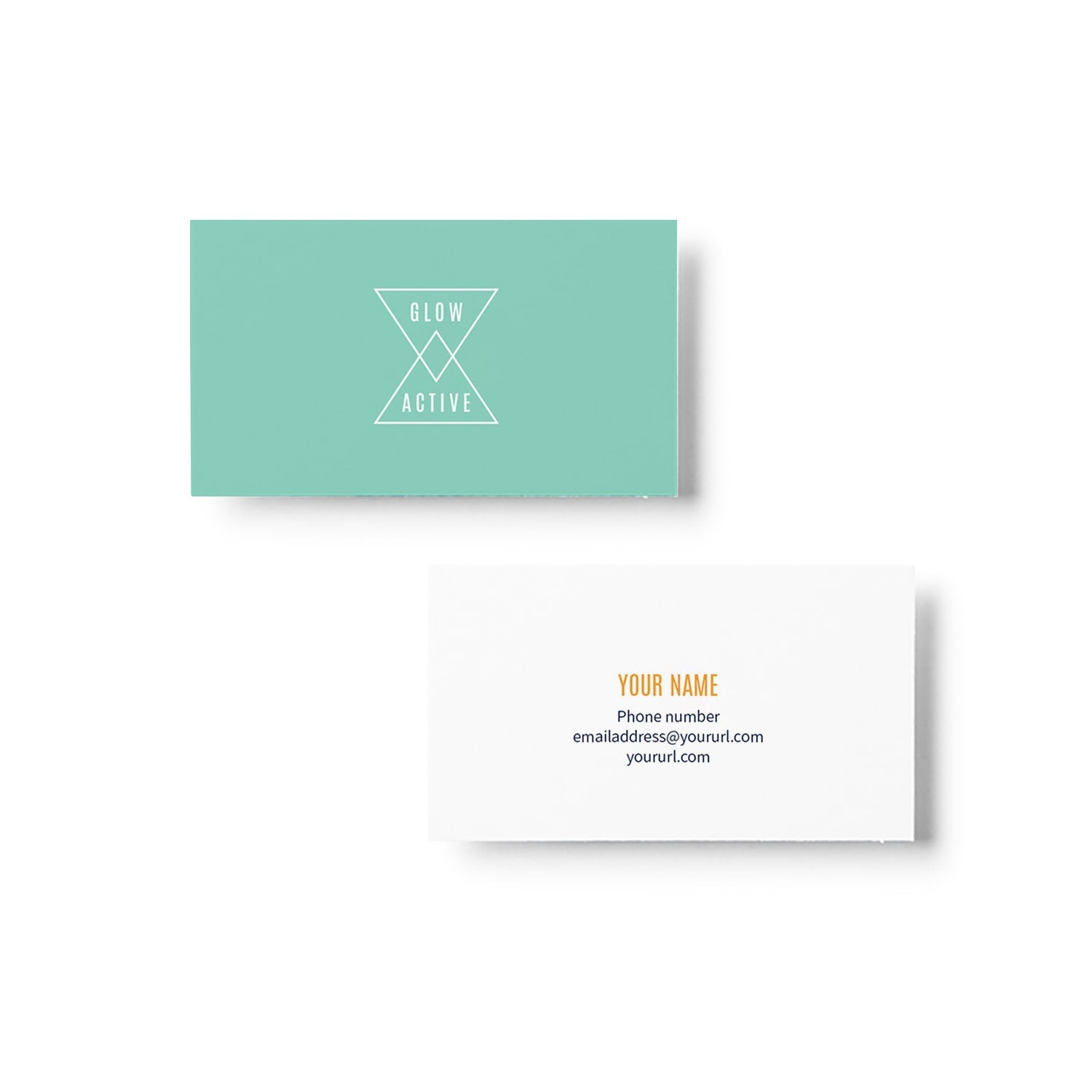 Glow Active Business Card Design_Copyright Tiny Crowd