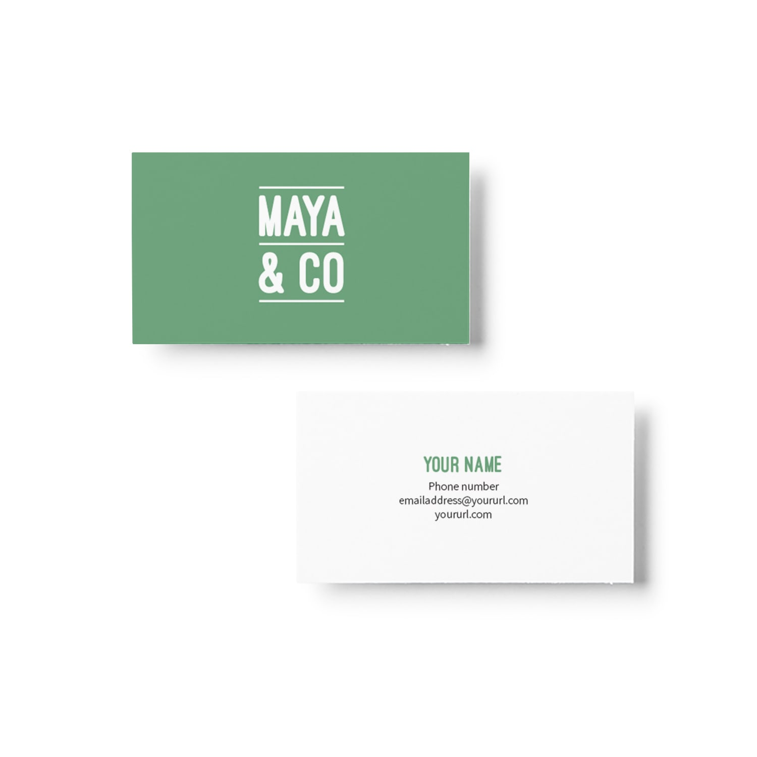 Maya & Co Business Card Design_Copyright Tiny Crowd