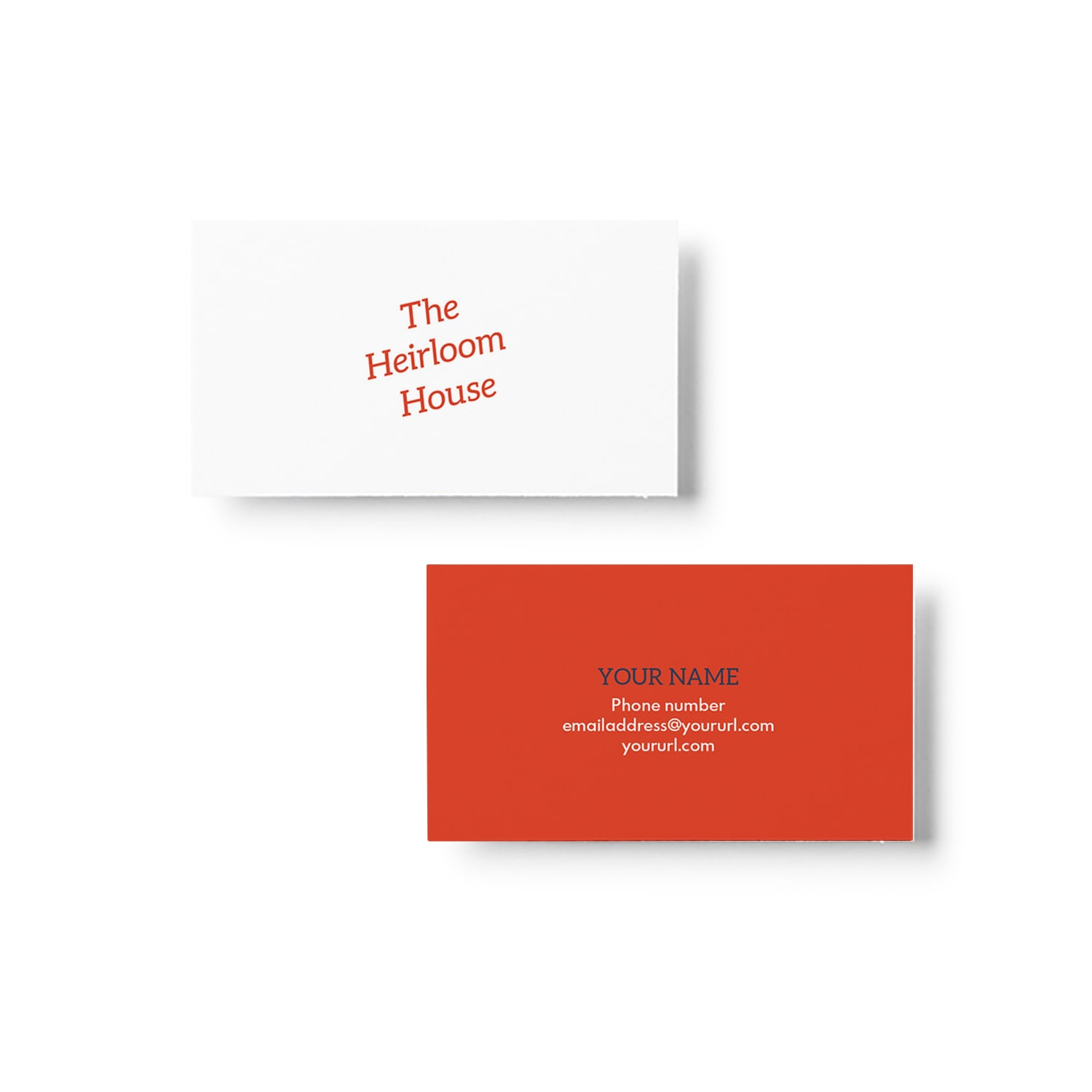 The Heirloom House Business Card Design_Copyright Tiny Crowd