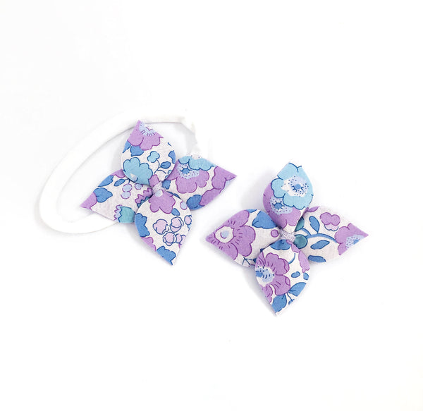 Fabric Flower- Betsy (lilac)