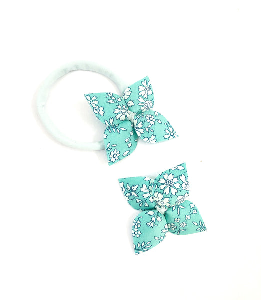 Fabric Flower- Capel (Turquoise)