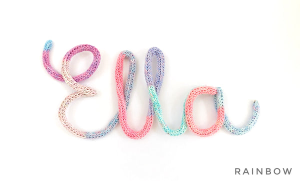 Knitted Names - MIXED Colours