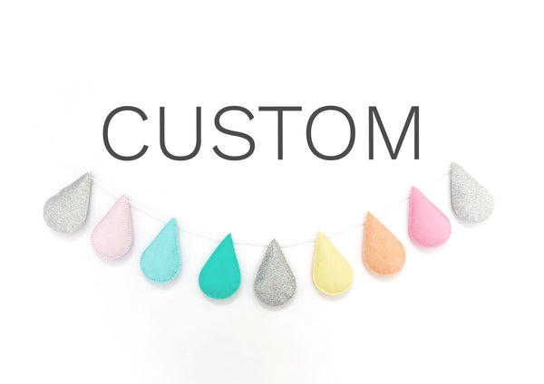9 Drop Garland - Custom Colours