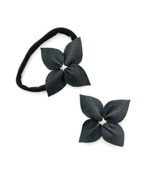 Signature Flower- Black