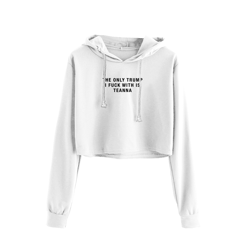 Only Teanna Crop Hoodie / White