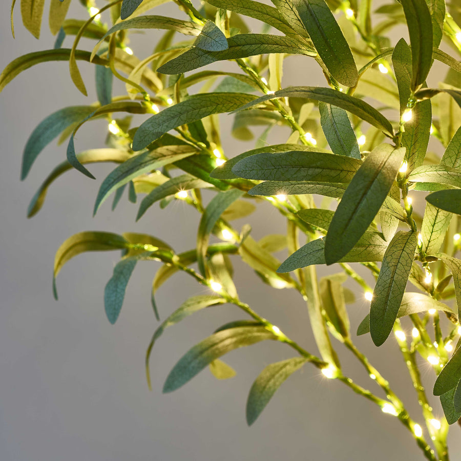 Hairui Lighted Olive Tree 4FT 160 Warm White LEDs Artificial Greenery with Lights
