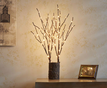 Lighted Branches 18IN 70 Warm White LED with Timer Twig Lights Battery Operated