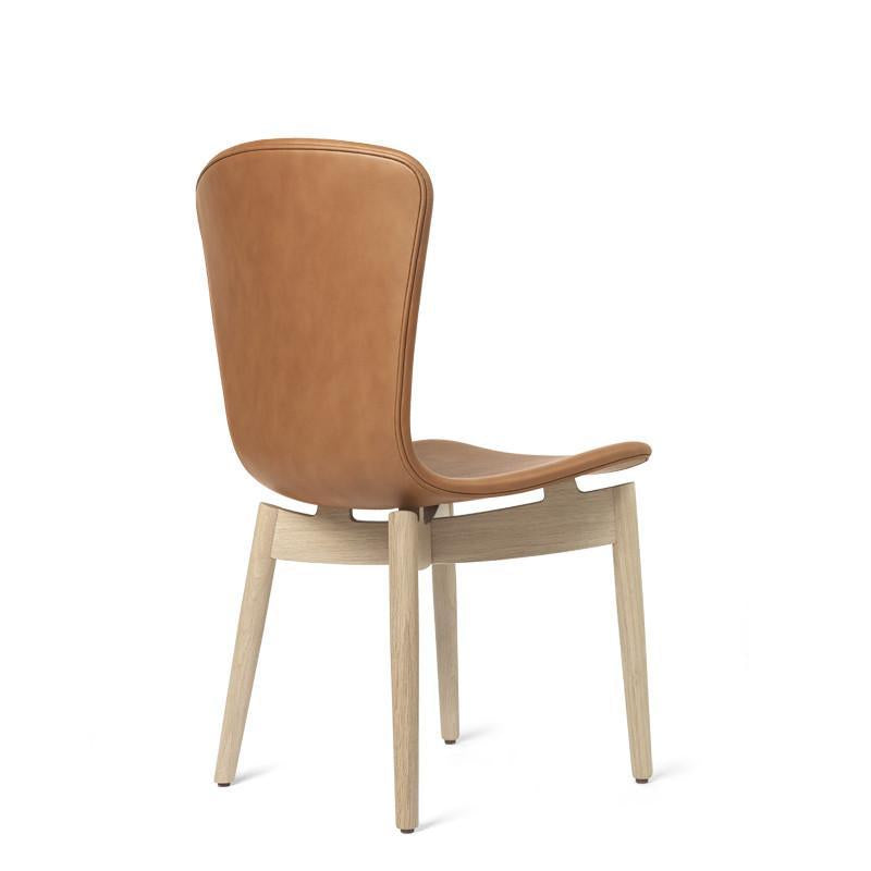 Shell Dining Chair | Ultra Brandy Leather