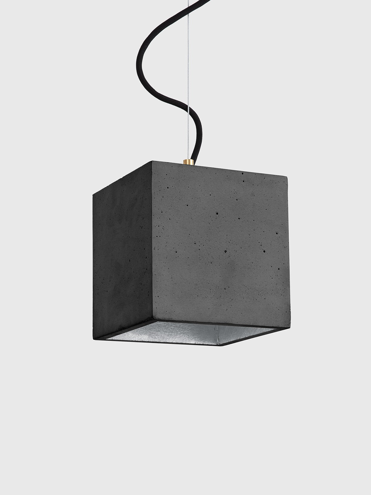 B5 Dark Concrete Cubic Pendant Light