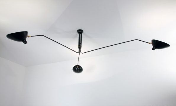 Ceiling lamp 3 rotating arms