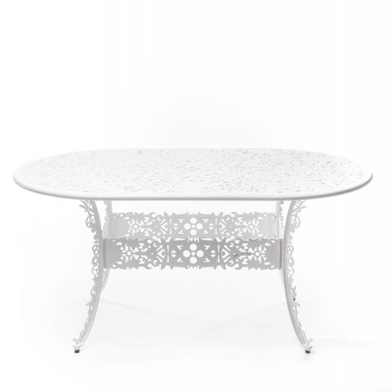 Aluminium oval table