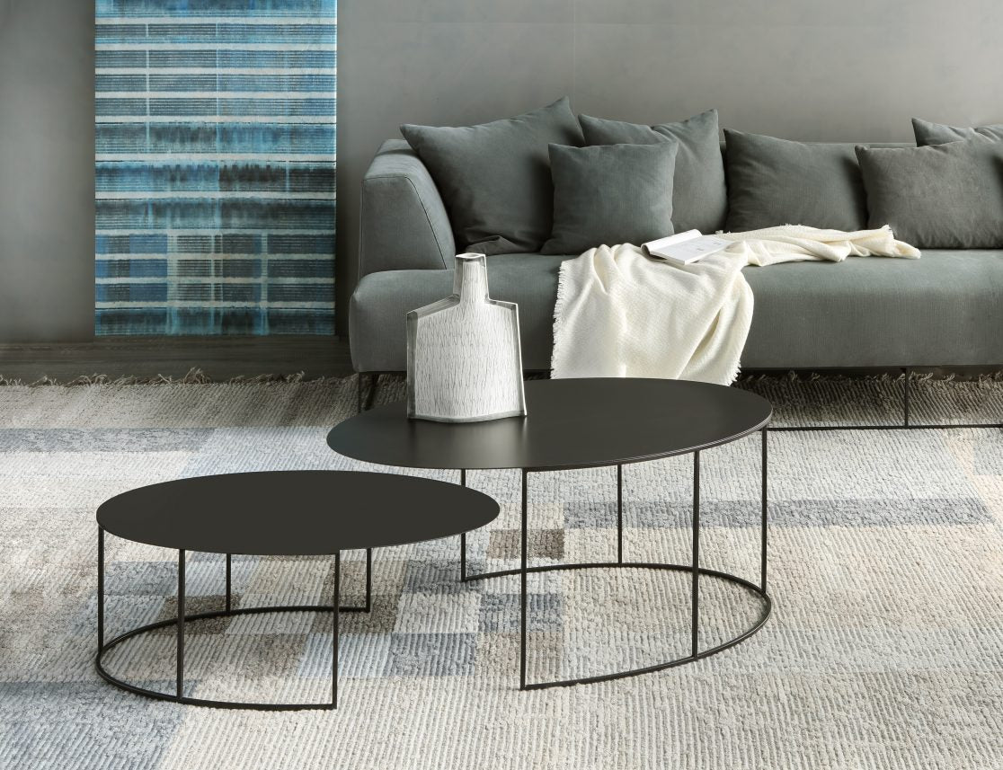 Slim Irony Oval Low Table