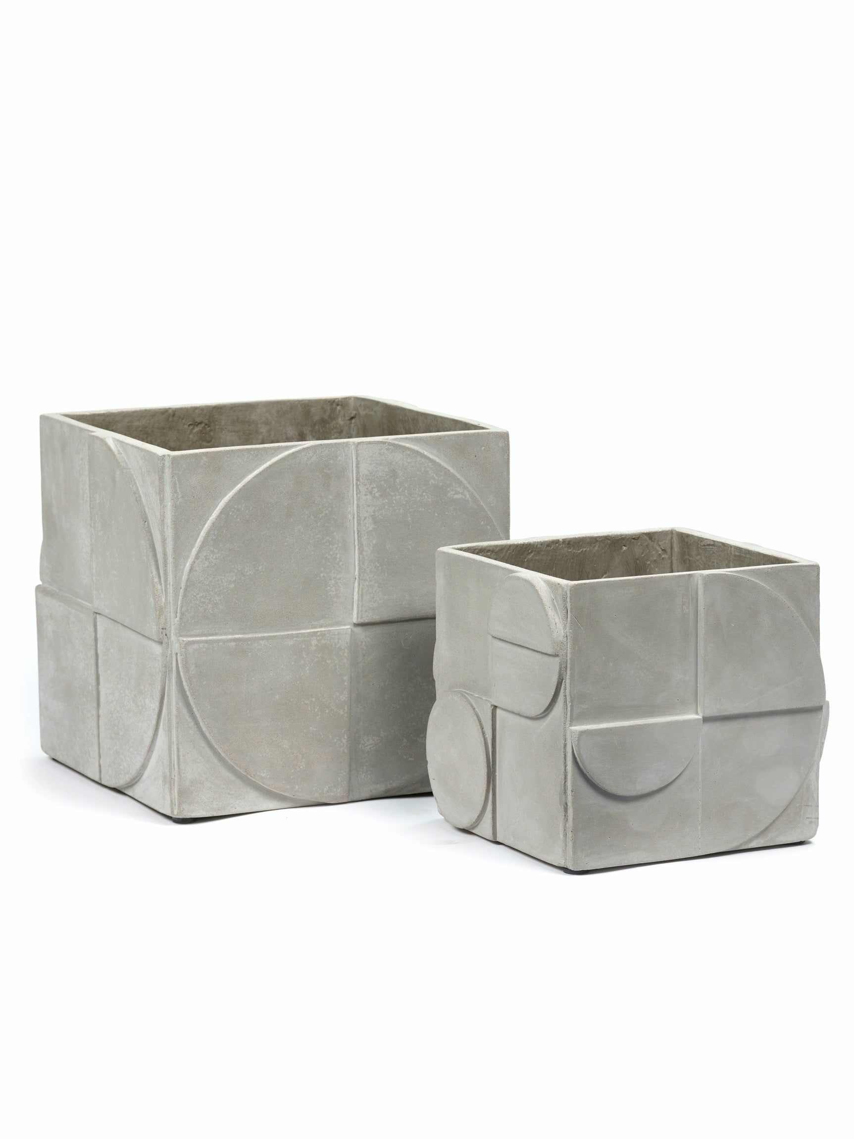 Pot Seventies Grey Concrete
