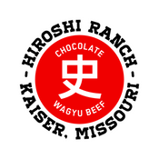 Hiroshi Ranch Logo Red Circle with Japanese symbol of the name Hiroshi with Hiroshi Ranch Kaiser Missouri written around it.