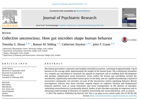 Gut microbes influence ability to socialise