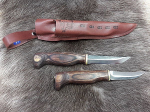 Wood Jewel Double Knife with Opening  Brown 23AVKR