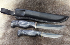 Wood Jewel Double Knife Big Black 23KIMU