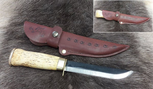 Wood Jewel Bear Leuku with Guard Knife 23KLSS