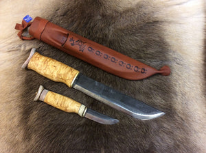 Wood Jewel 23LL Leuku/Puukko Knife Set - KnivesOfTheNorth.com