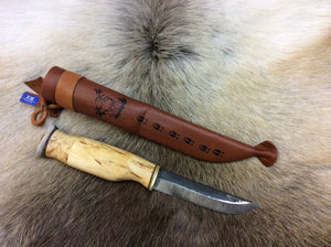 Wood Jewel 23VS Curly Birch knife - KnivesOfTheNorth.com