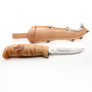 Järvenpää Vuolu with Finger Guard  Light Sheath Knife