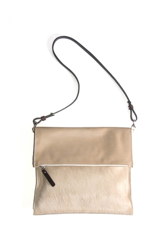 Beige Cowhide & Sand Leather