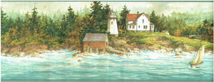 Sailboards and Lighthouses Border - 00029171