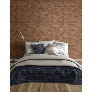 Otto Copper Hammered Metal Wallpaper