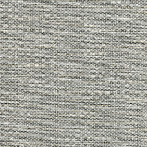 Bay Ridge Grey Faux Grasscloth Wallpaper