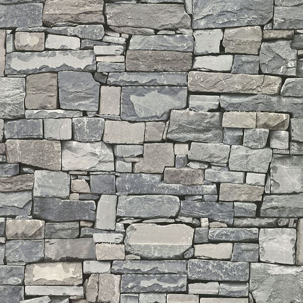 Wrangell Stacked Slate Wallpaper