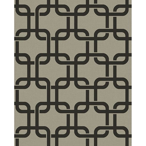 Waldorf Charcoal Flocked Links Wallpaper