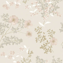 Load image into Gallery viewer, Prairie Rose Blush Floral Wallpaper