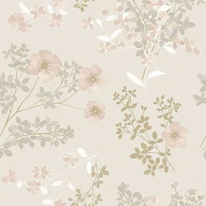 Prairie Rose Blush Floral Wallpaper