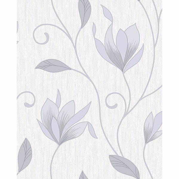 Anais Grey Floral Trails Wallpaper