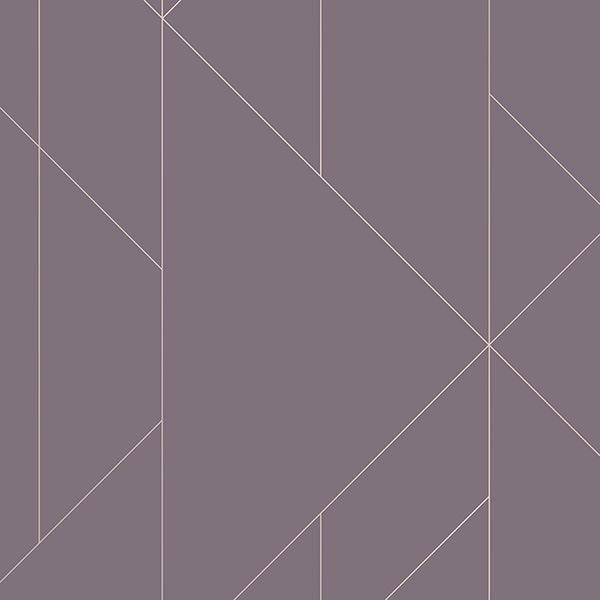 Torpa Purple Geometric Wallpaper