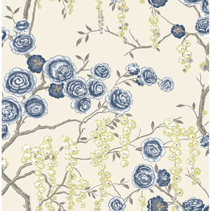 Peony Tree Indigo Wallpaper by Sarah Richardson - 2785-24830