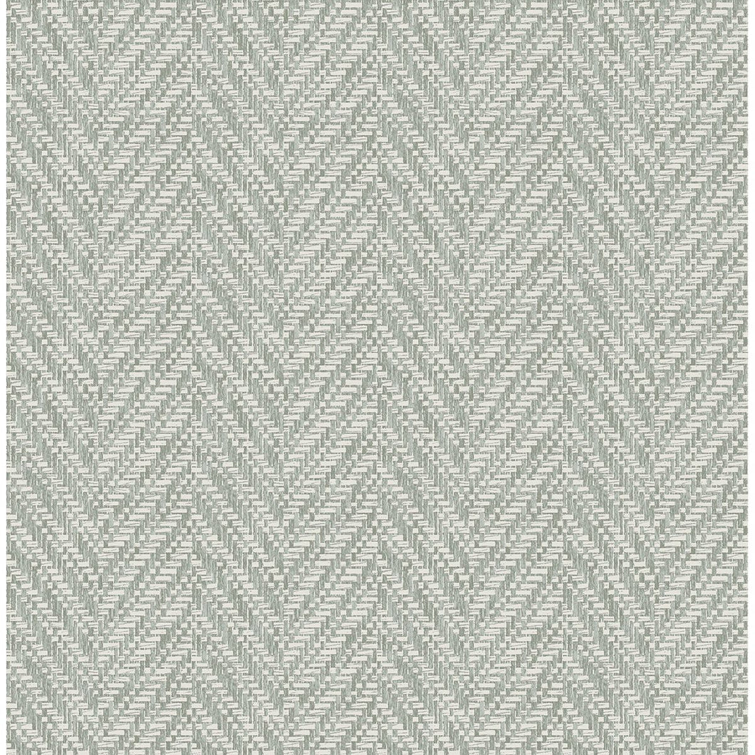 Ziggity Graphite Faux Grasscloth Wallpaper by Sarah Richardson