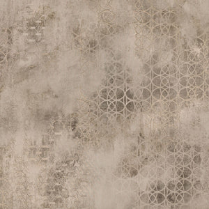 Fornax Brass Geometric Wallpaper