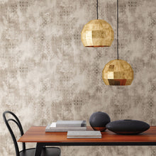 Load image into Gallery viewer, Fornax Brass Geometric Wallpaper