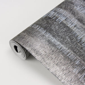 Meteor Pewter Distressed Texture Wallpaper