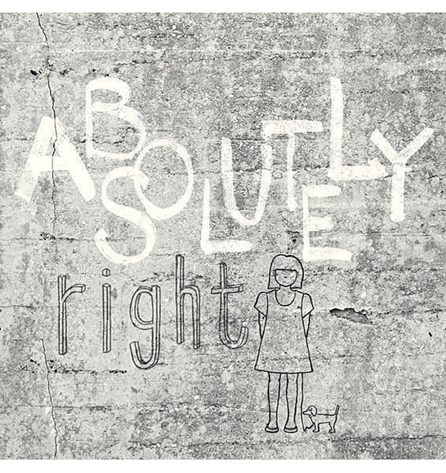 Absolutely Right Light Grey Graphic Mural