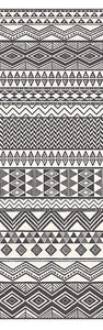 Aztec Stripe Cream Geometric Mural