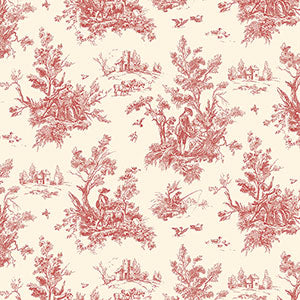 Cream and Red Toile - Ab27657