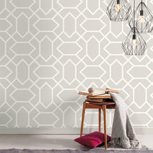 Load image into Gallery viewer, LT GREY MODERN GEOMETRIC PEEL & STICK WALLPAPER