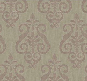 MS71409 taupe metallic w/ mauve design