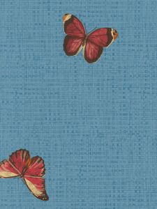 BT154721. Blu.bgw/ orange and gold butterflies