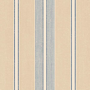 Tan & Dark Blue Linen Stripe - DS29706