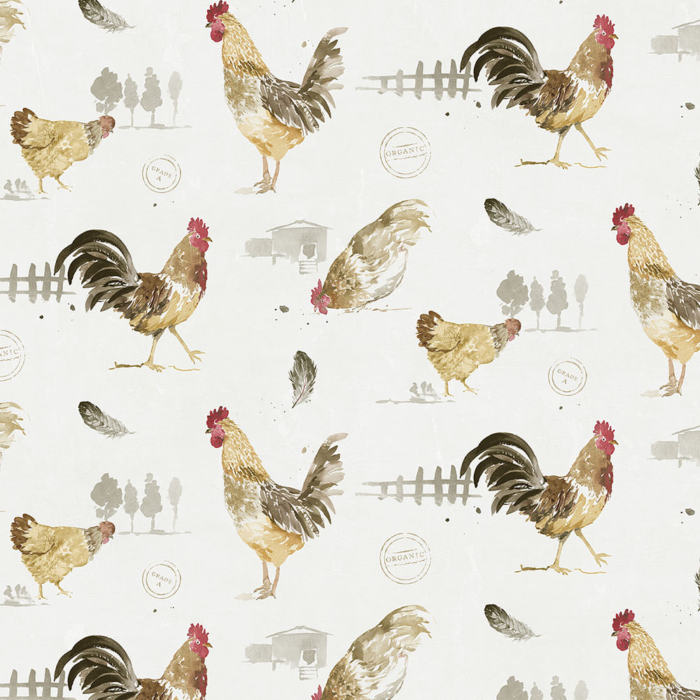 wallpaper, wallpapers, birds, roosters, chickens, feathers, trees, fence, hen house