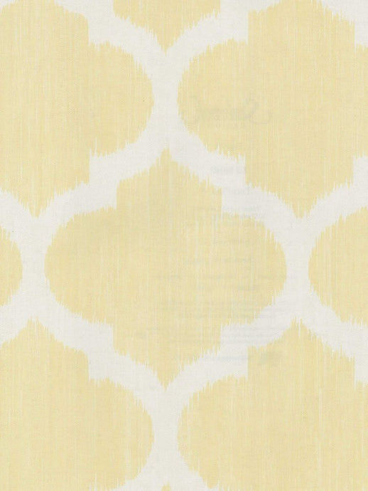 LJ80103 Lt. Yellow bg.w/white trellis design