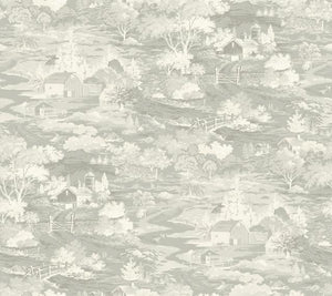Magnolia Home Homestead Removable Wallpaper gray/off white